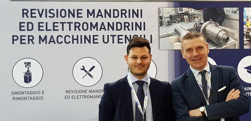 Fabrizio Menegazzo e Giuseppe Iasparra dell'ufficio commerciale di SMZ Italia